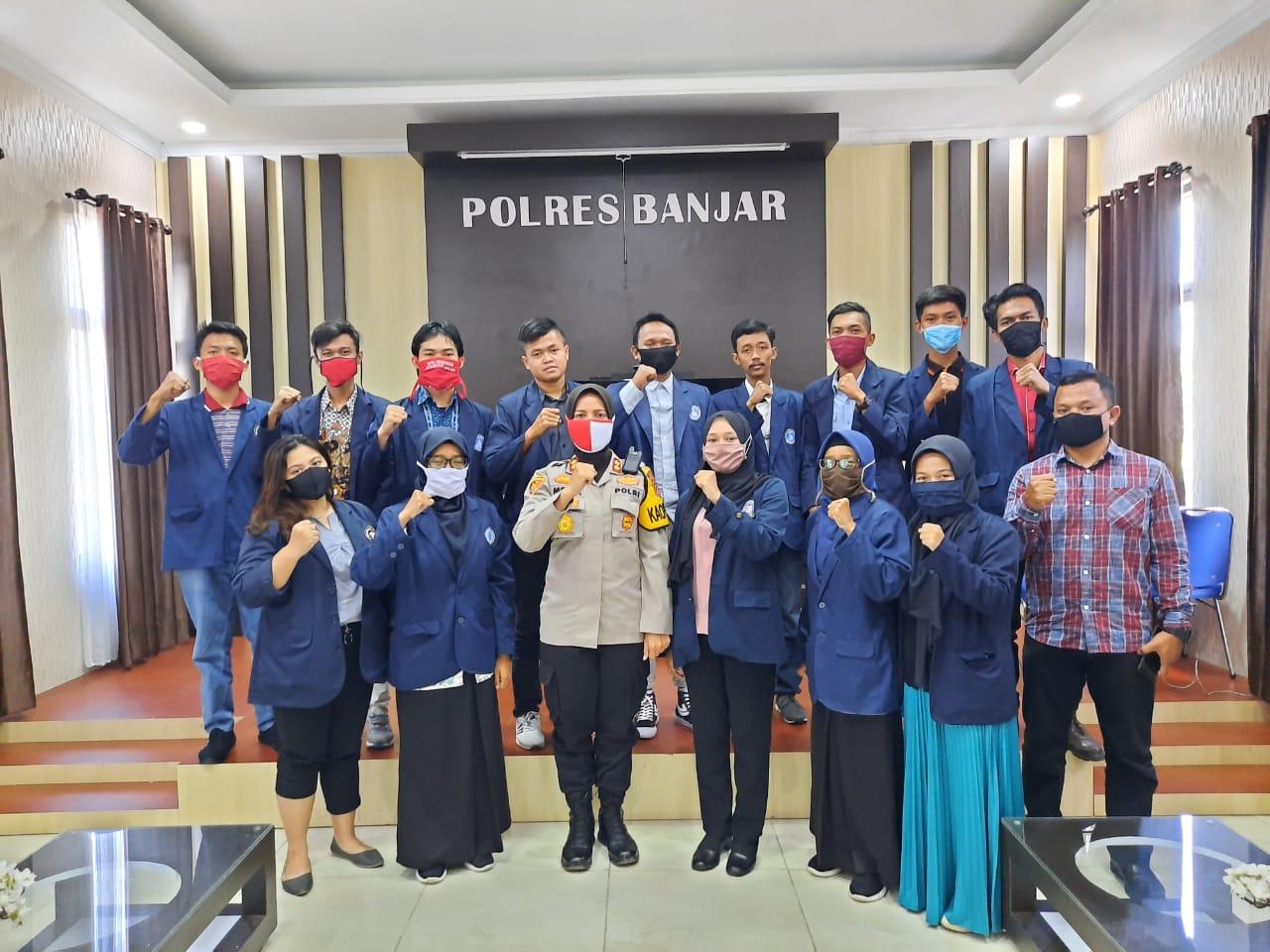 Silahturahmi BEM STISIP Bina Putera Banjar Bersama Kapolres Kota Banjar